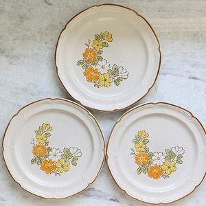 Vintage Spring Garden Baroque Hearthside Plate Set